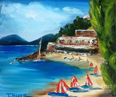 Fishing Village Of Greece Art Print by Therese Alcorn