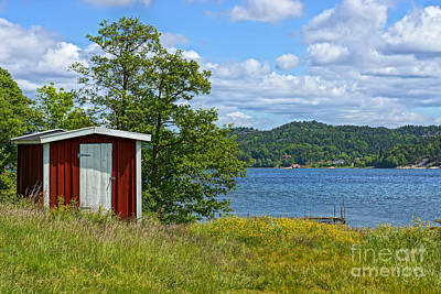 Shed Photograph - Fishing Waters by Lutz Baar