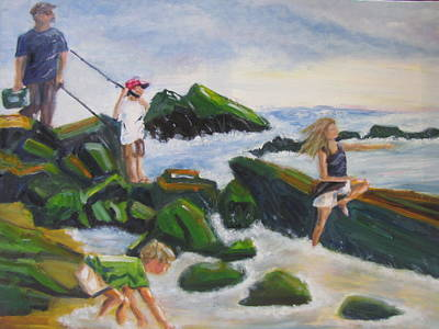 Painting - Fishing With Grandpa by Jenell Richards