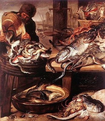 Painting - Fishmonger 2 by Pg Reproductions