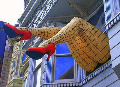 Fishnet Stockings Art Print by Randall Weidner