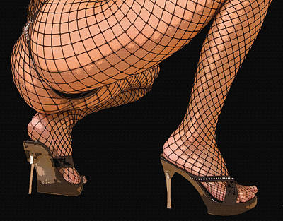 Painting - Fishnet by Tbone Oliver