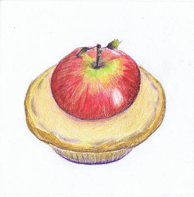 Healthy Eating Drawing - Five-a-day I by Lynn Blake-John