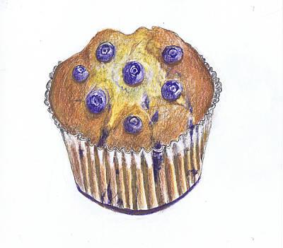Blueberry Drawing - Five-a-day II by Lynn Blake-John