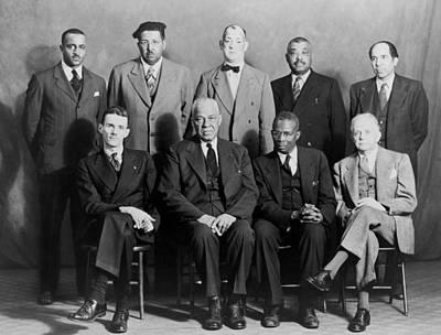 Five African American Defendants Print by Everett