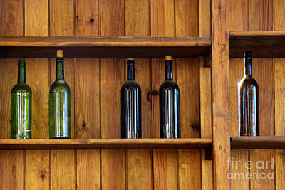 Old Brown Bottle Photograph - Five Bottles by Carlos Caetano
