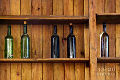Five Bottles Art Print by Carlos Caetano