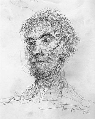 Drawing - Five Minute Man by James Lanigan Thompson MFA