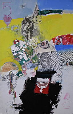 Image Transfer Mixed Media - Five Of Hearts 52-52 by Cliff Spohn