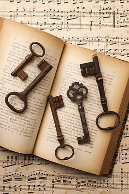 Key Photograph - Five Old Keys by Garry Gay