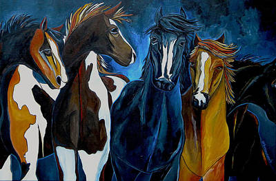 Painting - Five On The Ranch by Patti Schermerhorn