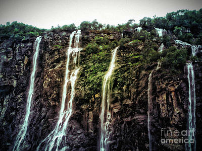 Photograph - Five Sisters Falls by Phyllis Kaltenbach