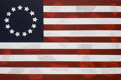 Flag Painting - Flag - Constitution by Kelvin Kelley