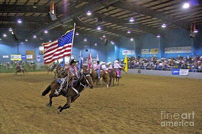 Loping Photograph - Flag Bearer by Sean Griffin