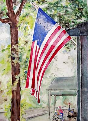 Painting - Flag Day by Regina Ammerman