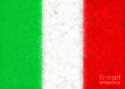 Digital Art - Flag Of Italy by Cristophers Dream Artistry