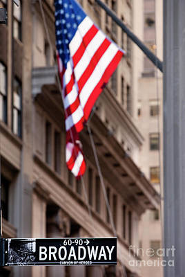 Photograph - Flag On Broadway by Brian Jannsen