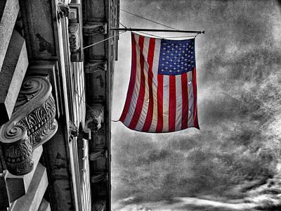 Photograph - Flag Pole by Bennie Reynolds