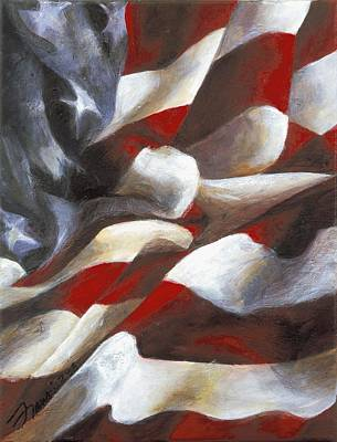 Painting - Flag Series Two by Francine Stuart