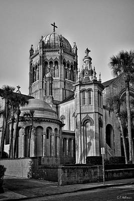 Flagler Memorial Presbyterian Church 3 - Bw Print by Christopher Holmes