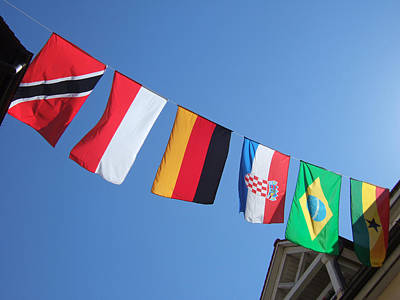 Flags Of Different Countries Art Print by Matthias Hauser