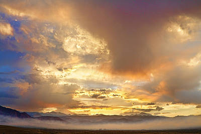 Photograph - Flagstaff Fire Sky Boulder Colorado by James BO Insogna