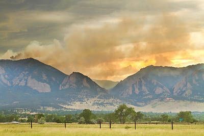 Photograph - Flagstaff Fire View by James BO  Insogna
