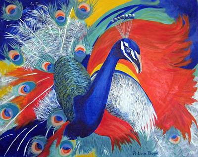 Painting - Flamboyant Peacock by Lisa Boyd