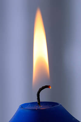 Photograph - Flame Of A Burning Candle by Matthias Hauser