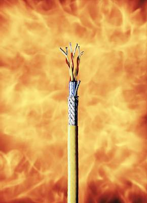 Flame-resistant Cable Art Print