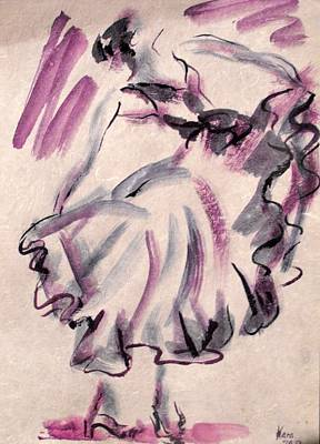 Painting - Flamenco Dancer 12 by Koro Arandia