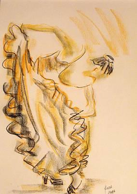 Flamenco Dancer 2 Art Print