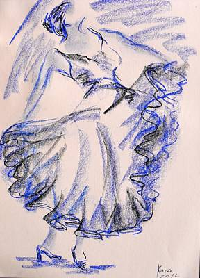Painting - Flamenco Dancer 8 by Koro Arandia