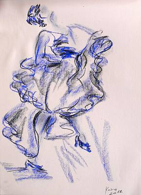 Painting - Flamenco Dancer 9 by Koro Arandia