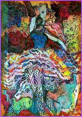 Flamenco Dancer Art Print by Mindy Newman