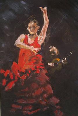 Flamenco Dancer Art Print by Paul Mitchell