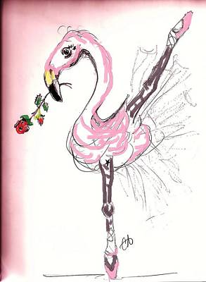 Flamenco Flamingo Art Print