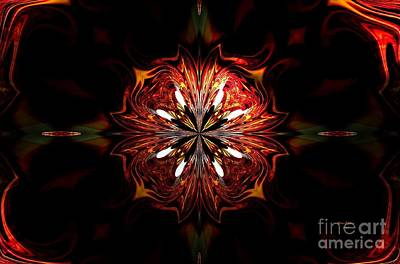 Digital Art - Flames In The Hollow by Maria Urso