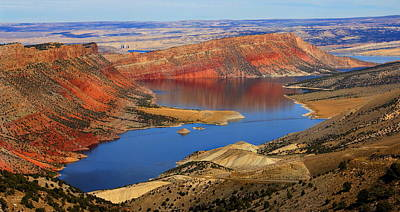 Flaming Gorge Print by Donna Duckworth