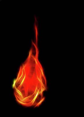 Flaming Tear Art Print