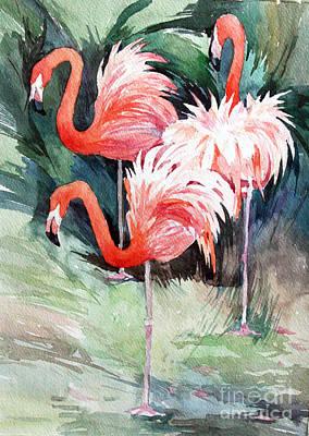 Painting - Flamingo by Natalia Eremeyeva Duarte