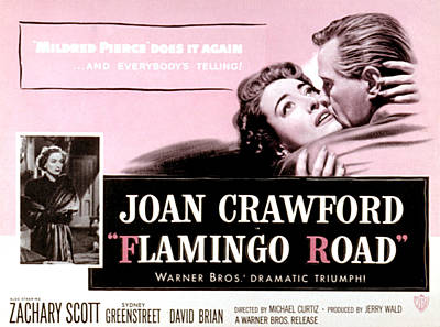 Posth Photograph - Flamingo Road, Joan Crawford, David by Everett
