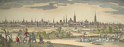 Flanders: Bruges, 1720 Art Print by Granger