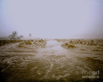 Photograph - Flash Flood Coming At Me In Desert by Merton Allen