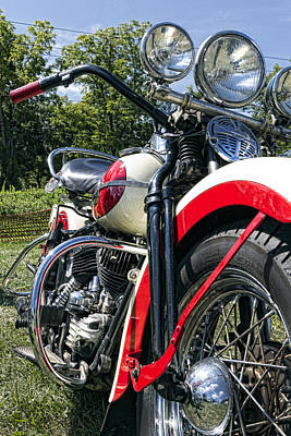 Handlebar Photograph - Flathead by Peter Chilelli