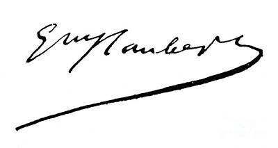 Gustave Flaubert Wall Art - Photograph - Flaubert Signature by Granger