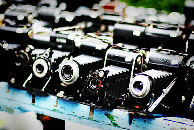 Photograph - Flea Market Cameras by Heidi Hermes