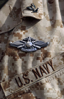 Fleet Marine Force Warfare Device Pin Art Print by Stocktrek Images