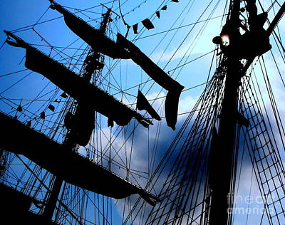 Fleet Week - Masts Art Print by Maria Scarfone