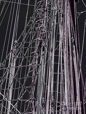 Fleet Week - Ship's Ropes Art Print by Maria Scarfone